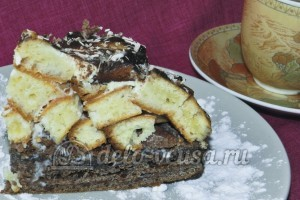 Торт Графские развалины из бисквита