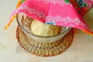 Большая ватрушка с творогом: Убрать тесто в теплое место