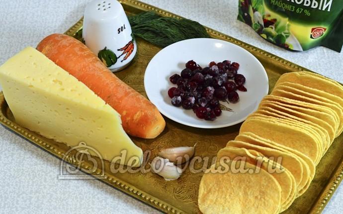 Закуска на чипсах с сыром: Ингредиенты