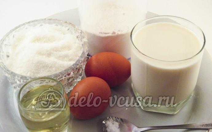 Ажурные блинчики на молоке: Ингредиенты