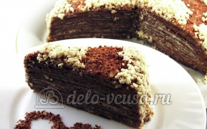 с шоколадным и торта Рецепт с фото кремом белым пошаговым