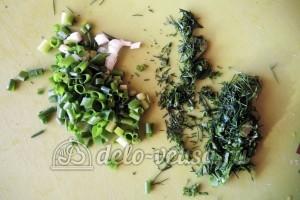 Куриное филе Сюрприз: Измельчить зелень