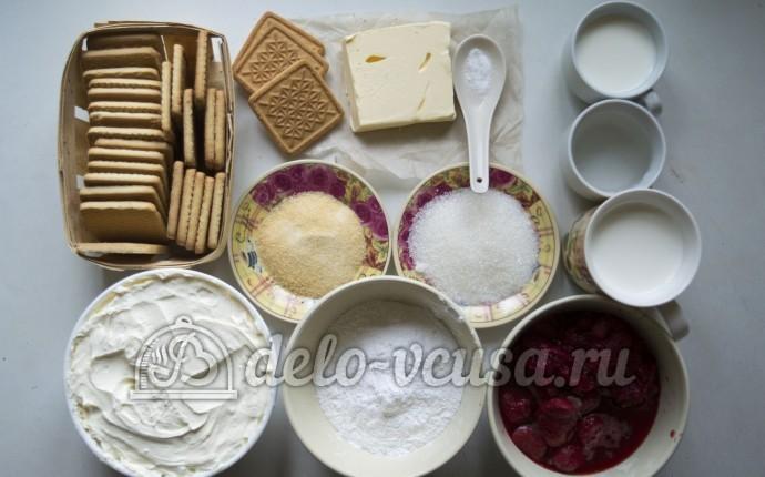 Чизкейк без выпечки с маскарпоне: Ингредиенты