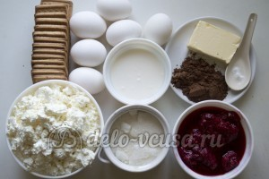 Чизкейк с малиной: Ингредиенты