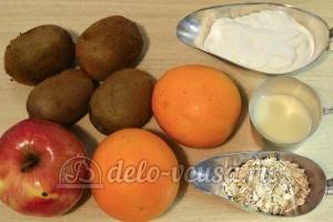 Фруктовый салат со сметаной: Ингредиенты