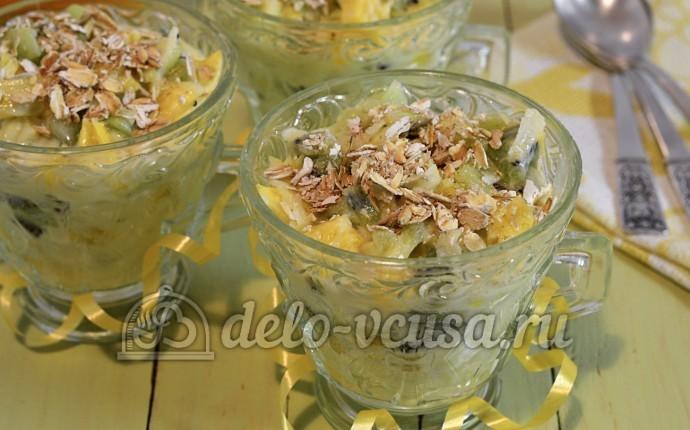 салаты в креманках пошагово фото