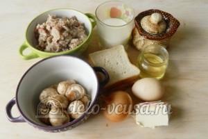 Гнезда из фарша с грибами: Ингредиенты