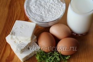 Блины с брынзой и зеленью: Ингредиенты