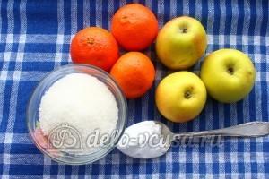 Кисель из мандаринов и яблок: Ингредиенты