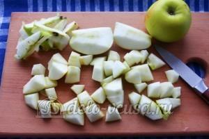 Кисель из мандаринов и яблок: Яблоки подготовить