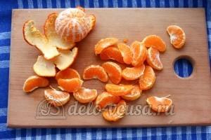 Кисель из мандаринов и яблок: Почистить мандарины