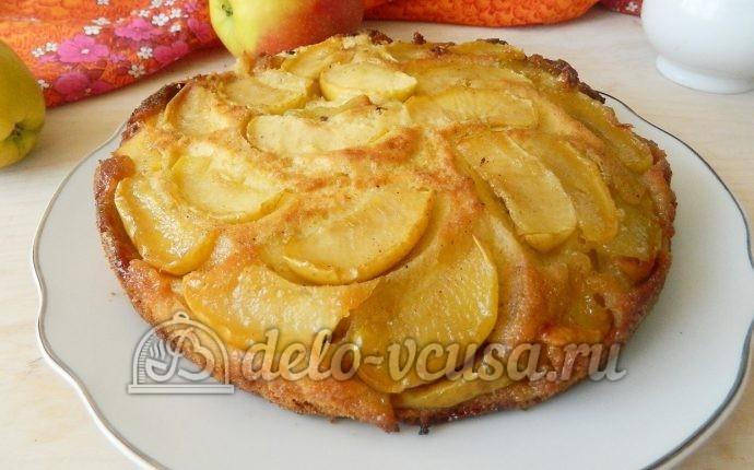 Пирог-перевертыш с яблоками: фото блюда приготовленного по данному рецепту