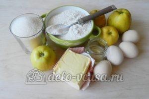 Пирог-перевертыш с яблоками: Ингредиенты