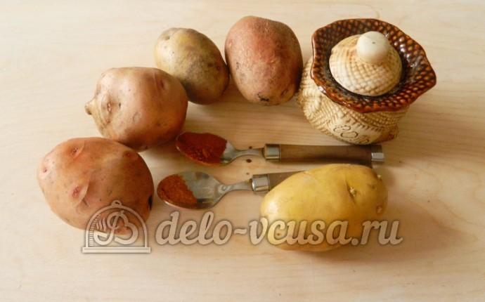 Картофельные чипсы в микроволновке: Ингредиенты