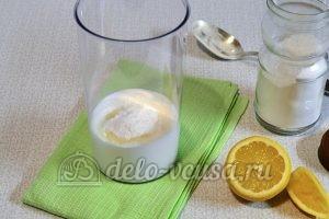 Кулич на йогурте: Добавить пудру и сок лимона