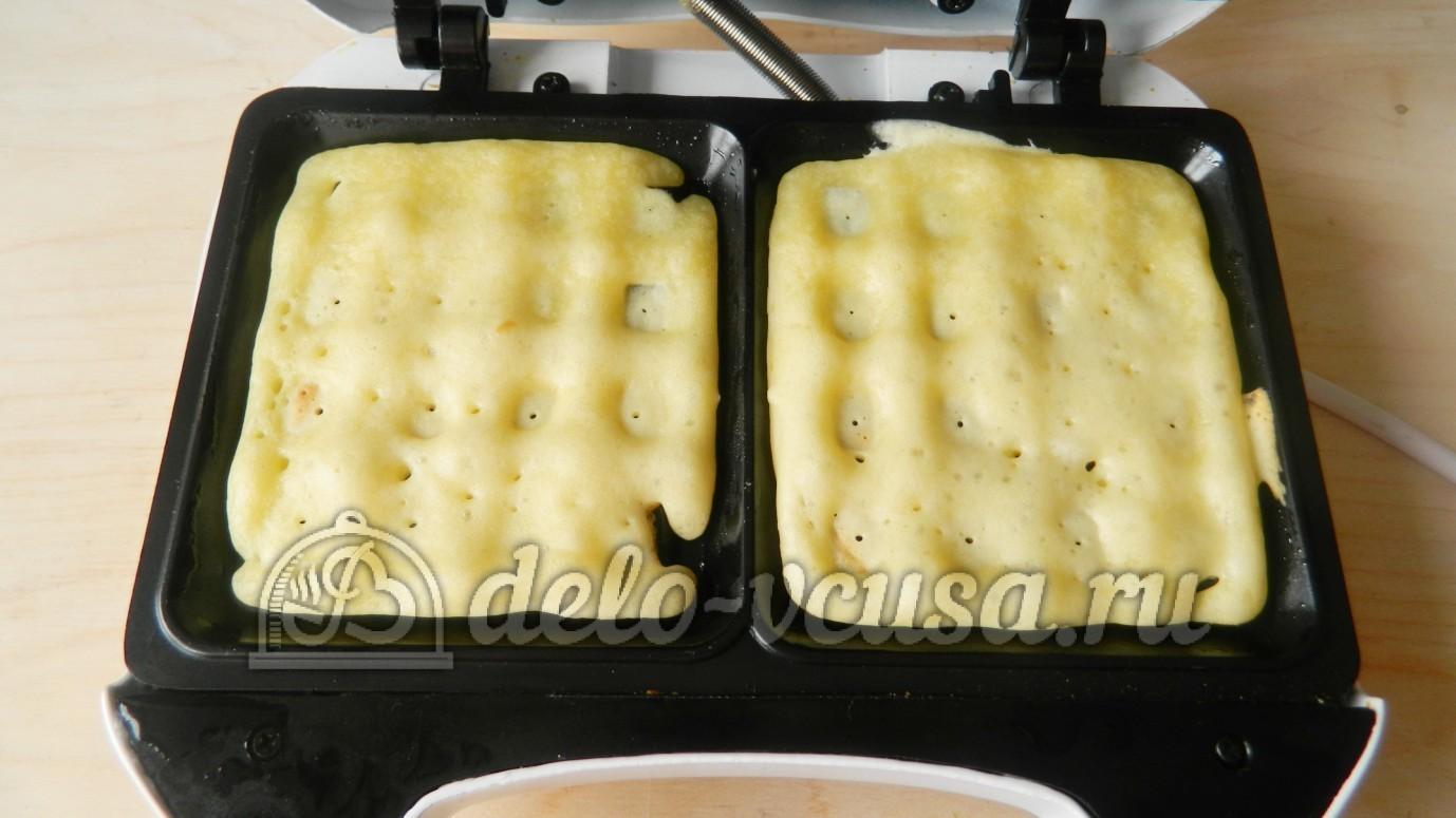 Как приготовить вафли в вафельнице с пошагово