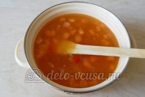 Овощной суп с рисом: Добавить воду