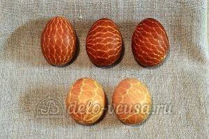 Пасхальные яйца в сетку: Окрашенные яйца
