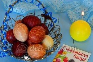 Пасхальные яйца в сетку
