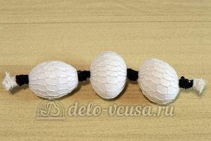 Пасхальные яйца в сетку: Завернули яйца