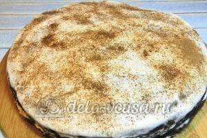 Пирог на кефире с вареньем: Украсить какао