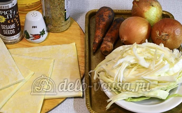 Пироги с капустой и морковью: Ингредиенты