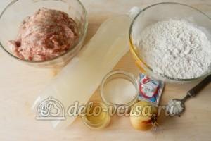 Жареные пирожки с мясом: Ингредиенты