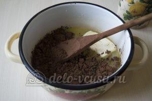 Шоколадные трюфели: Добавить масло и какао