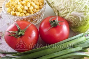Салат из пекинской капусты и кукурузы: Ингредиенты