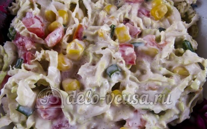 салат зимний из пекинской капусты