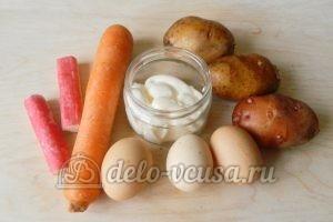 Салат с крабовыми палочками и морковью: Ингредиенты