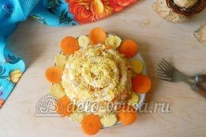 Салат с крабовыми палочками и морковью