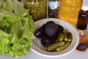 Салат со свеклой и горошком: Ингредиенты