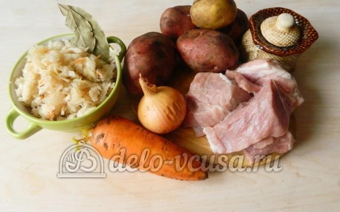 Щи из квашеной капусты: Ингредиенты