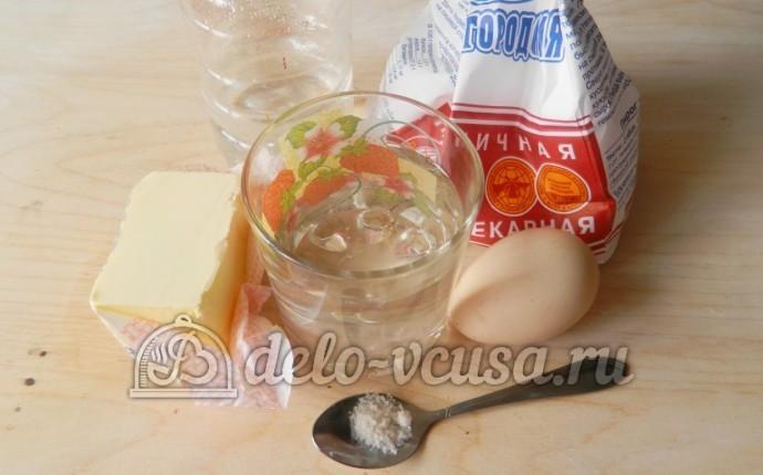 Слоеное бездрожжевое тесто: Ингредиенты