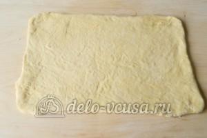 Слоеное бездрожжевое тесто: Тесто раскатать