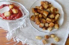 Сухарики с горчицей