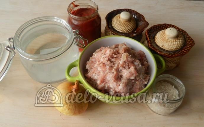 Тефтели с рисом в мультиварке: Ингредиенты