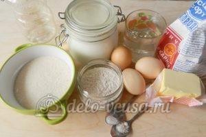 Торт Наполеон с заварным кремом: Ингредиенты