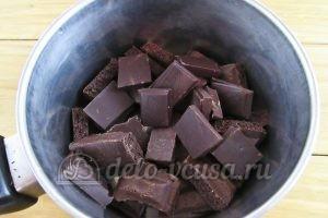 Торт Прага: Растопить шоколад