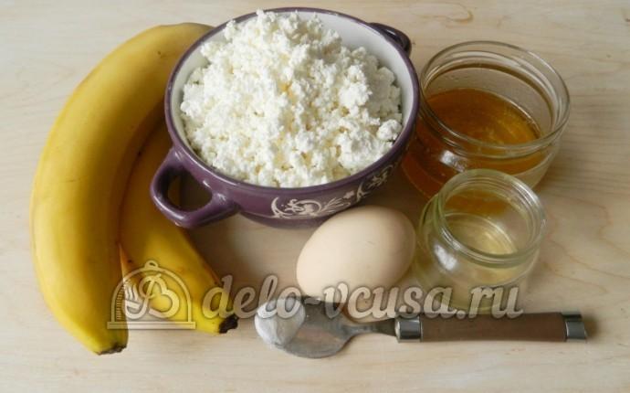 Творожная запеканка с бананом: Ингредиенты