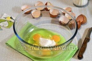 Творожный кулич: Добавить соль, ванилин и сахар
