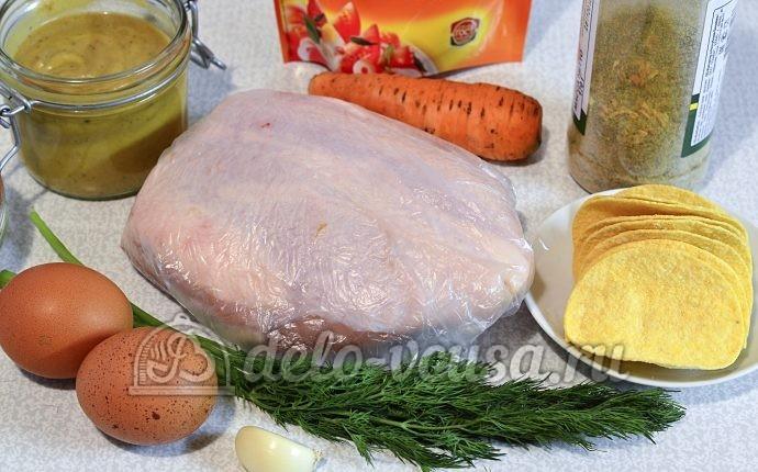 Закуска на чипсах с курицей: Ингредиенты