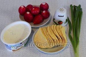 Закуска на чипсах с творожным сыром: Ингредиенты