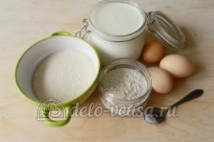 Заварной крем без масла: Ингредиенты