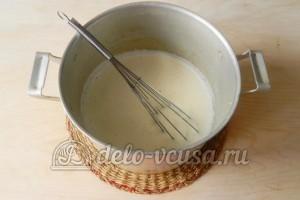 Заварной крем без масла: Соединить ингредиенты