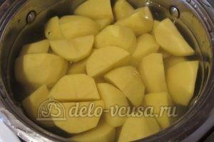 Зразы картофельные с курицей: Картошку отварить
