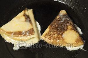Бендерики с творогом: Жарим на сковородке