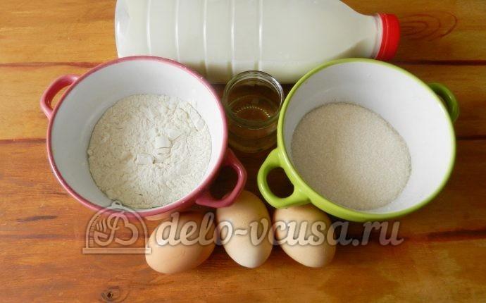 Блинный торт с заварным кремом: Ингредиенты