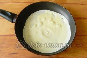 Блинный торт с заварным кремом: Жарим блины